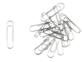 Paperclips klein 30 mm, 100 stuks