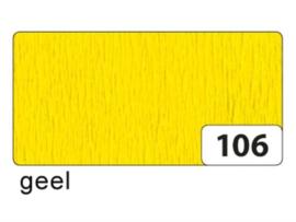 Crêpepapier geel