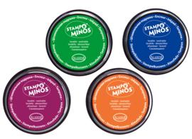 Stempelkussen, set van 4 kleuren