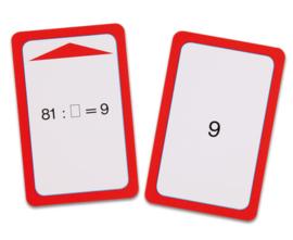 Magische hoed opdrachtkaarten, delen door 6, 7, 8 en 9