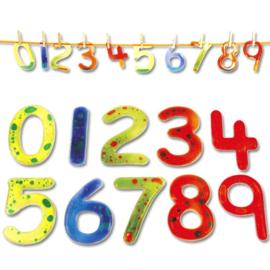 Kleurrijke cijfers van plastic