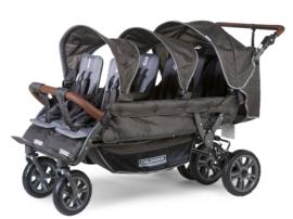 # Sixseater, 6-persoons kinderwagen incl. regenhoes, beschermhoes en automatisch remsysteem