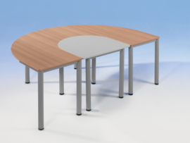 Halfovale tafel Lipizaner, vaste hoogte