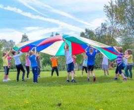 Parachute 180 cm doorsnee, met 6 handvatten