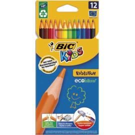Kleurpotloden Bic Evolution, 12 stuks