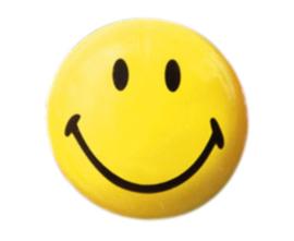 Smiley magneten, 6 stuks