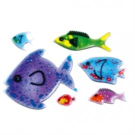Sprankelende vissen voor de lichtbak