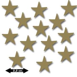 Ongegomde plakfiguren Ster goud
