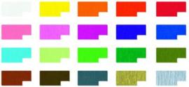 Crêpepapier kleurassortiment, inclusief goud en zilver