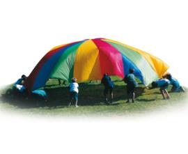 Parachute 360 cm doorsnee, met 12 handvatten