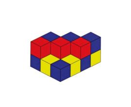 Opdrachtkaarten voor gekleurde kubussen