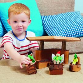 # Lounge set van hout