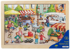 Puzzel De markt, 24-delig