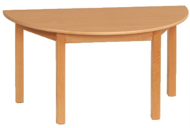 Beuken tafel halfrond 120 x 60 cm