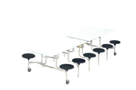 Spaceflex 12 zitplaatsen, melamine tafelblad, zithoogte 41 cm