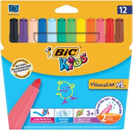 Kleurstiften Bic Kids Visacolor XL, 12 stuks