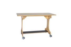 Verrijdbare tafel berken/berken decor