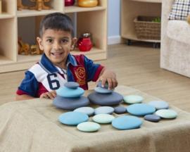 Houten pebbles pastelkleuren