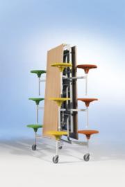 Spaceflex 12-zits, HPL-tafelblad, zithoogte 41 cm