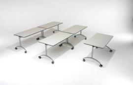 Kantelbare tafel, melanine blad, 160 x  72 x 80 cm