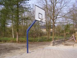 Basket met paal, bord en ring