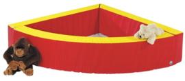 Ballenbak kwartcirkel rood / geel
