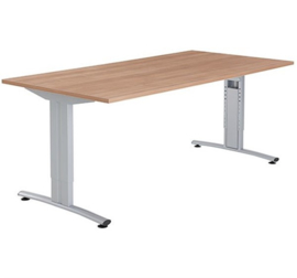 Basic vergadertafel recht, instelbaar 62-86 cm.