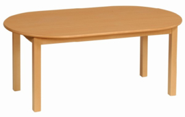 Beuken tafel ovaal 140 x 80 cm