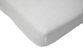 Badstof molton hoeslaken 120 x 60 cm wit
