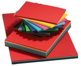 Tekenpapier gekleurd A3, 120 gr. 10 kleuren x 25 vel