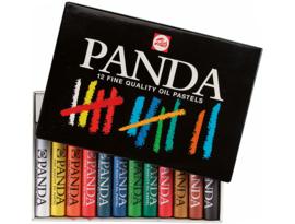 Oliepastelkrijtjes Talens Panda set van 12 ass.