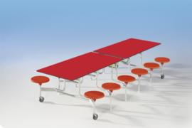 Spaceflex 12 zits, tafelblad Volkern Powersurf, zithoogte 46 cm
