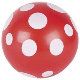 Ballen rood met witte stippen, set van 6. Doorsnee 20 cm.
