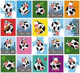 Beloningsstickers Grappige koeien
