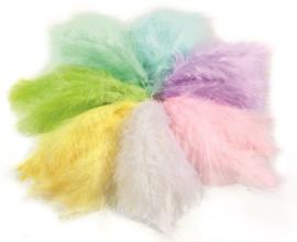 Fleece veren in pastelkleuren