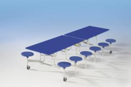 Spaceflex 16 zitplaatsen, melamine tafelblad, zithoogte 32 cm