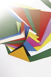 Gekleurd papier  bicolor  recto verso