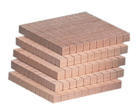 MAB Rekenblokken hout eenkleurig, honderdtallen