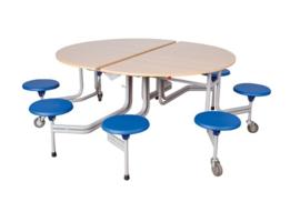 Spaceflex 8-zits Rond tafelblad Melamine, zithoogte 46 cm