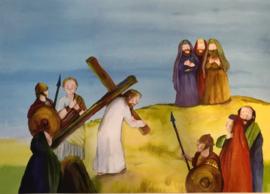 # De kruisiging van Jezus, vertelplaten, 11 stuks
