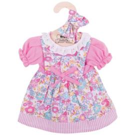 Roze jurk met bloemen 35 cm