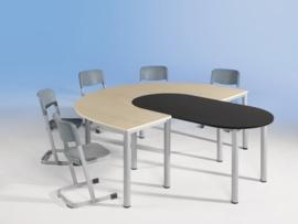 Ovale tafel, vaste hoogte