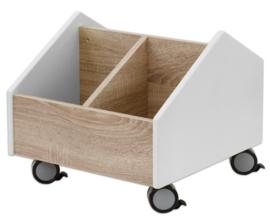 # EduCasa verrijdbare boekenwagen wit