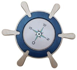 Scheepsrad met draaibaar kompas