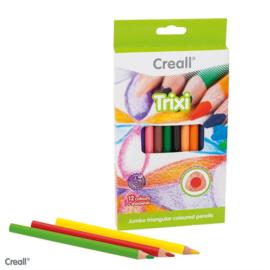 Creall Trixi driekantige kleurpotloden, dik