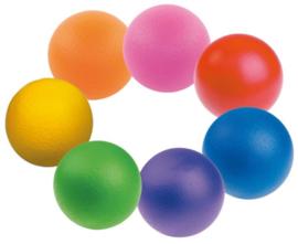 Set van 7 softballen, vrolijke kleuren