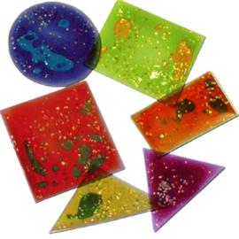 Kleurrijke, sprankelende geometrische vormen