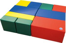 Softplay bouwstenen set D 10-delig