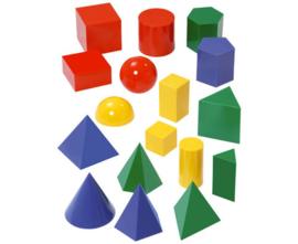 Geometrische gekleurde vormen, 17 stuks