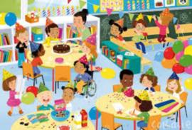Puzzel Schoolfeesten, set van 4